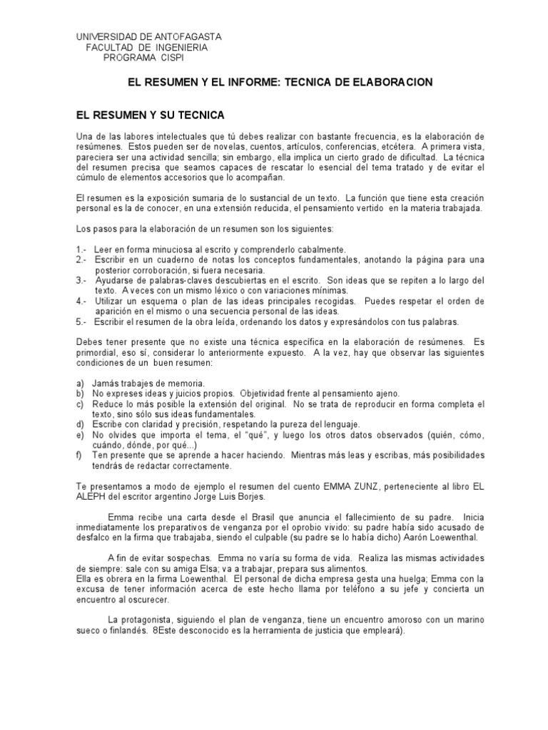 Hermosa Buenos Ejemplos De Resúmenes De Resumen Festooning ...