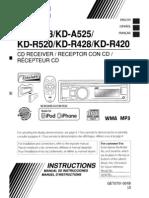 JVC KD-R428 Car Stereo System