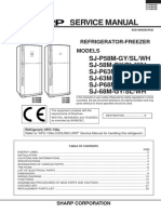 Sharp SJ-P58M-GY Fridge Service Manual
