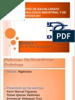 balanceodeecuacionesmtodoalgebraico-111213164845-phpapp01