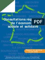 Consultations régionales de l'économie sociale et solidaire - rapport 2000