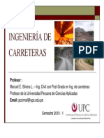 Diseño Geométrico de Carreteras - Clases UPC 01