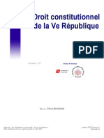Droit constitutionnel de la Ve République. Mr Toulemonde