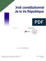 Droit constitutionnel de la Ve République. Mr Toulemonde