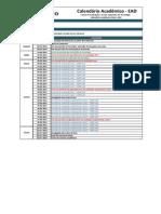 Calendario Geral EAD 2014.1 Semestral