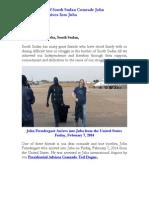Great Friend of South Sudan Comrade John Prendergast Arrives Into Juba