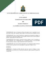 LOAT-HONDURAS (LEY DE ORGANIZACION Y ATRIBUCION DE LOS TRIBUNALES)