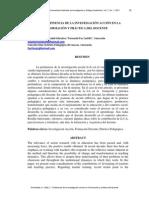 PERTINENCIA DE LA INVESTIGACIÓN ACCIÓN EN LA FORMACIÓN Y PRÁCTICA DEL DOCENTE