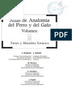 Atlas de Anatoma Del Perro y Del Gato Vol-II y Miembro Toracico