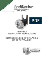 Horton DriveMaster Repair Kit Installation Instructions