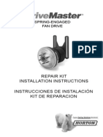 Horton DriveMaster Repair Kit Installation Instructions