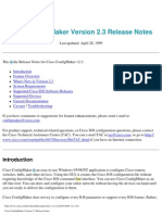 Cisco Config Maker Version 2.3 Release Notes