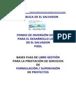 Bases Fijas Consultor-Supervisor FISDL
