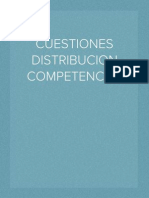CUESTIONES DISTRIBUCION COMPETENCIAL