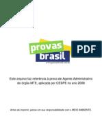 Prova Objetiva Agente Administrativo Mte 2008 Cespe