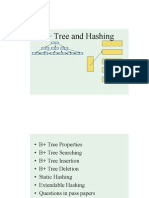 B+ Tree and Hashing