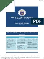 K to 12 Curriculum for CEAP-NBEC Usec Ocampo 28 Jan 2014