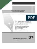 TD137- ANÁLISE DO PROJETO DE LEI DE MARCO REGULATÓRIO DA MINERAÇÃO DO BRASIL