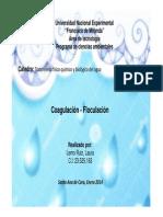 COAGULACION - FLOCULACION 2014
