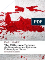 Karl Marx the Difference Between the Democritean and Epicurean Philosophy of Nature