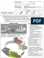 Prova de Geografia Agenda 21, Industria e Meio Ambiente, Etc