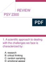 Psy 2300 Exam Review