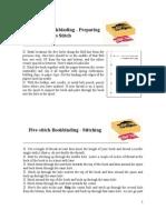 Five Stitch Bookbinding