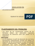 Cinetica de Disolucion en Farmacologia Expo