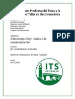 Mtto. Predictivo Torno y Fresadora Taller de Electromecánica