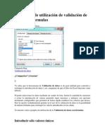 4 ejemplos de utilización de validación de datos con fórmulas