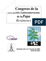 XX Congreso de la Asociación Latinoamericana de la Papa (ALAP-2002)