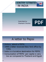 Pepsi's Entry Strategy in India