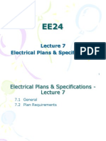 EE24 Lecture 7 - Electrical Plans & Specifications