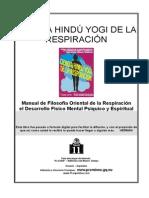 Ciencia hindú yogi de la respiración - Yogi Ramacharaka