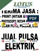 Terima Print & Jual Pulsa