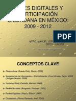 Redes digitales y Ciudadanía en México 2009 - 2012