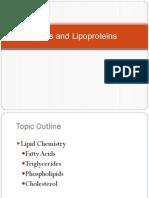 Lipids and Lipoproteins