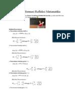 Rumus Transformasi Refleksi Matematika