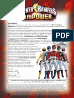Power Rangers EmPOWER Challenge Teacher Kit