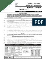 Major Test 1 Paper 1