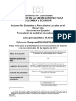 Proyecto Fortalecimiento de La Cadena de Cacao en La Prov