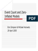 Event Count and Zero Inflated Models