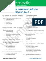 Examen de Internado Medico 2013 Essalud