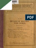 Details of Machine Tool Design