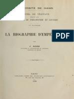La biographie d'Empédocle - Bidez (1894)
