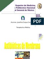Sulfas,Macrolidos,Antisepticos,Ant de Membrana