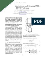 7_Microstrip Patch Antenna Analysis Using PML-FDTD Technique