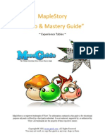 MapleStory Experience Tables