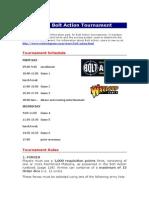 Bolt Action - Tournament Rules