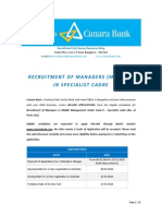 Canara Bank - RP-1-2014 - Advertisement